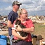 Egor is back with his family after a Boy Scout doing tornado relief work in Moore, OK found him in the rubble on Sunday.