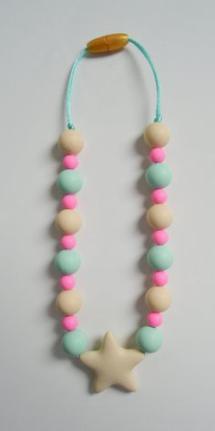 Non toxic silicone necklaces for babies/toddlers  by GummyChic. www.facebook.com/gummy.chic.teethers
