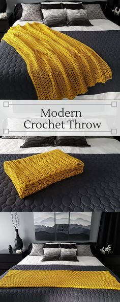 Click the image to view more about Crochet Afghan Patterns Yellow! Modern Crochet Blanket, Crochet For Beginners Blanket, Crochet Blankets, Cozy Blankets, Chunky Crochet, Knit Crochet, Irish Crochet, Crotchet, Easy Crochet