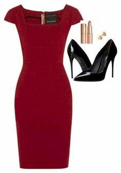 So tragen Sie rote Schuhe Work Outfits Casual 30 Ideas , Fashion Mode, Work Fashion, Womens Fashion, Fashion 2018, Gothic Fashion, Fashion Fashion, Fashion News, Fashion Online, Fashion Beauty