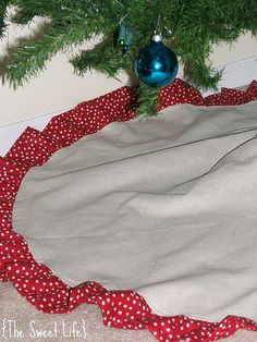 christmas tree skirt! I like this one too! Crap! Now I can't decide!