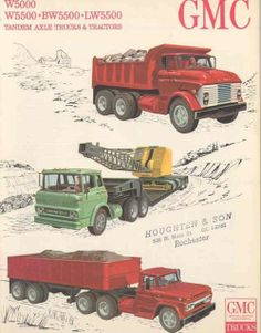 GMC Professional Grade isn't a new concept! Old Pickup Trucks, Big Rig Trucks, Dump Trucks, Toy Trucks, Heavy Duty Trucks, Heavy Truck, Vintage Tractors, Vintage Trucks, General Motors