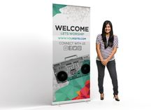 Youth Group Welcome Roll up Banner can be used for any youth group purpose or others church related projects, text, images input are very easy to customize.