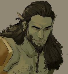 Male half orc barbarian fighter warrior Pathfinder DND D&D Fantasy Character Design, Character Creation, Character Design Inspiration, Character Concept, Character Art, Concept Art, Fantasy Races, High Fantasy, Fantasy Rpg