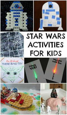 Star wars activities for kids, perfect for Star Wars day. May the 4th be with you!