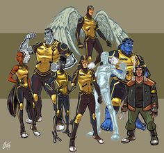 X-Men Redesigns FINAL by ChrisJamesScott on deviantART