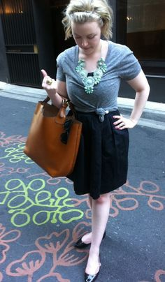 Cute way to wear a shirt over a dress. I want to try this with some of my strapless dresses so I can wear them to work.