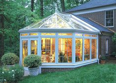 Wood Sunroom with Glass Roof ~ A small, square sunroom (12' x 12' or 15' x 15') on top of the observatory tower ~ with a natural wood beam structure would be PERFECT!!!! All we'd need are easy curtain track systems for privacy or sleeping & cooling on super hot summer days & VIOLA!!!!! I Really LOVE this idea ❤