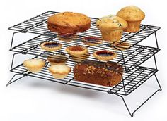 KitchenCraft Non-Stick Three Tier Cooling Rack Bakers Kitchen, Kitchen Craft, Cooling Racks, Kitchen Essentials, Kitchenware, Muffin, Baking, Breakfast, Cake