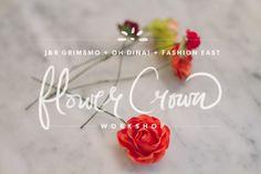 J Grimsmo Flower Crown Workshop Flower Crown, Graphic Illustration, Workshop, Flowers, Blog, Image, Crown Flower, Floral Crown, Atelier