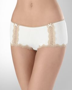 Ivory/Soft Tan Embraceable Boyshort Women's Panties by Soma Intimates in Fall 2012 from Soma Intimates
