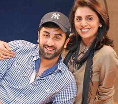 Ranbir Kapoor with his mom
