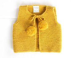 Knit%20baby%20vest,%20garter%20stitch%20with%20pompoms,%20100%%20soft%20merino%20wool%20by%20TIENenMIEP%20on%20Etsy
