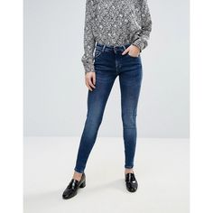Pepe Jeans Aero Skinny Fit Jeans (£65) ❤ liked on Polyvore featuring jeans, blue, tall jeans, skinny fit jeans, flap-pocket jeans, mid-rise jeans and mid rise skinny jeans