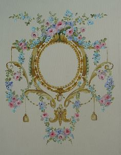 This stunning French Cartouche was painted by 4 Wits End. SOLD ~ <3 K8 <3 ~