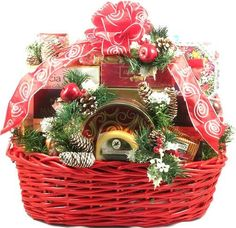 Christmas Party Deluxe, XL Holiday Gift Basket -   - http://giftbasketblessings.com/product/christmas-party-deluxe-xl-holiday-gift-basket/