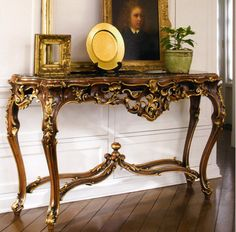 carved wood console tables