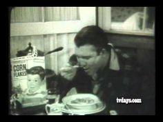 George Reeves unused Kellogg's Commercial Clayton Moore, George Reeves, Adam West, Corn Flakes, Superman, Crime, Commercial, My Love, Reading