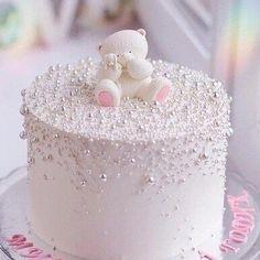 Baby Girl Birthday Cake, Baby Girl Cakes, Cute Birthday Cakes, Beautiful Birthday Cakes, Baby Shower Cake For Girls, Pretty Cakes, Cute Cakes, Rodjendanske Torte, Torta Baby Shower
