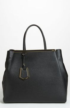 Fendi '2Jours Elite - Large' Leather Shopper available at #Nordstrom