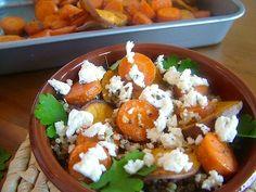 5 or less: Quinoa met zoete aardappel en wortel