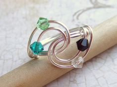 ****Birthstone Ring Swarovski Elements Family Ring Mothers Ring Crystal Ring Silver Friendship Ring Bridesmaid Gifts Jewelry Gifts Under 20. $15.95, via Etsy.