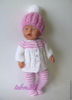 Купить Комплект кукольный Малыш - розовый, одежда для кукол, подарок девочке, кукольная одежда