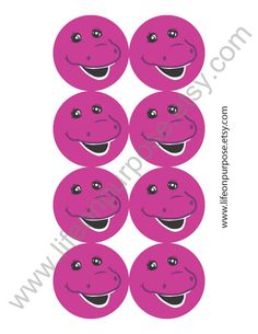 Barney Birthday Party Printables - Instant Download