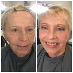 Before and after Mud Makeup