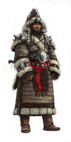 Hyrkanian Raider concept art from the video game Age of Conan: Unchained