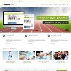 ThemeTastic Flat Responsive WordPress Theme | WordPress Theme Download