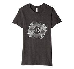 Buddhism T-Shirt: Om Spiritual Symbol & Exotic Gold Fishes