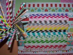 Paper Straws 50 Colorful Mixed Stripe Straws You by shabbygirl2, $11.50
