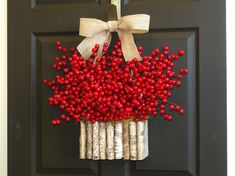 Christmas wreaths Holiday wreaths Berry wreaths by aniamelisa
