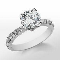 Monique Lhuillier Pavé Leaf Engagement Ring
