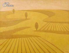 """Castilla IV"", Concha Ibáñez.  Óleo sobre tela. Dimensiones: 116 x 89 cm"
