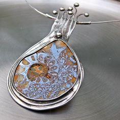 Duch pouště - amonitový náhrdelník