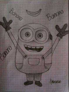 banana minion çizim draw drawing