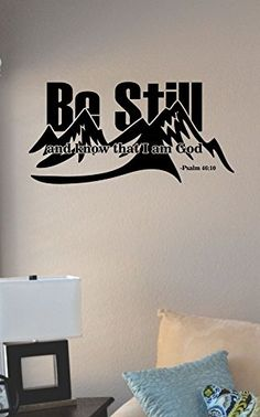 Be still and know that I am God Vinyl Wall Art Decal Sticker JS Artworks http://www.amazon.com/dp/B00NEP155C/ref=cm_sw_r_pi_dp_FfBeub1H5YPW4