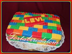 Lego torta Pot Holders, Beach Mat, Lego, Outdoor Blanket, Cake, Desserts, Food, Food Cakes, Tailgate Desserts