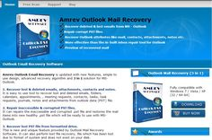 Outlook Email Recovery offers to recover your lost or deleted email, contact, tasks, calendar and corrupted PST files from Outlook PST