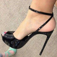 Just a Bit Taller Stilettos, Strappy High Heels, Hot High Heels, Platform High Heels, High Heel Boots, Pumps Heels, Stiletto Heels, Beautiful High Heels, Beautiful Toes