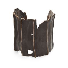 """JULIE COHN-USA , DRIFTWOOD CUFF-bronze """"The collection is cast in Ancient Bronze and sterling silver, and combined with semi-precious stones. Designs cast in Ancient Bronze are sealed to maintain their luster."""""""