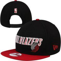 e1ed590e6ae New Era Portland Trail Blazers Current Logo 9FIFTY Snapback Hat - Black Red