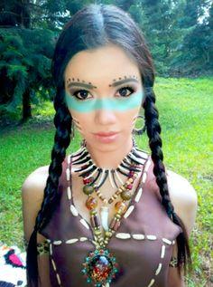 Native American Halloween Makeup
