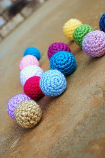 colorful crochet amigurumi balls. Look like good pet toys