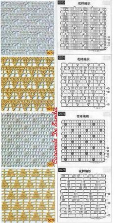 Knitting and Crochet Patterns for your designs. They will help you with crochet scheme. Débardeurs Au Crochet, Crochet Diagram, Tunisian Crochet, Crochet Chart, Filet Crochet, Crochet Doilies, Crochet Flower Patterns, Crochet Stitches Patterns, Crochet Designs
