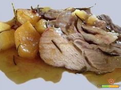 Arrosto di maiale con patate al forno  #ricette #food #recipes