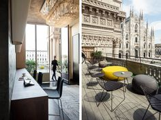 With a view of the Duomo #Arper #Milan Terrazza Duomo21 designed by Massimo Magaldi featured @Stylepark