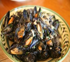 MUSSEL BRODETTO Just wanted to share this delicious recipe from Lidia Bastianich with you - Buon Gusto! Lidia's Recipes, Kitchen Recipes, Wine Recipes, Cooking Recipes, Healthy Recipes, Healthy Food, Fish Dishes, Seafood Dishes, Fish And Seafood